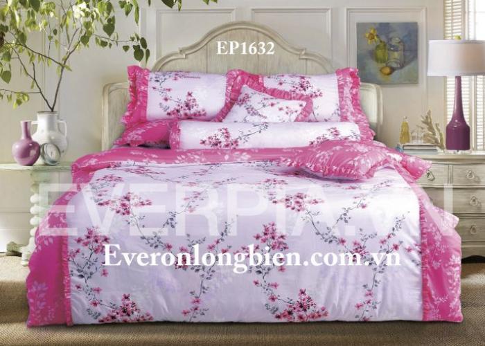 Bộ chăn ga gối Everon màu hồng hoa đào EP1632